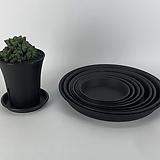 플라스틱 원형 다용도 화분 받침 블랙|