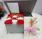 카네이션비누꽃  1 그레이 용돈박스 어버이날 스승의날선물용|