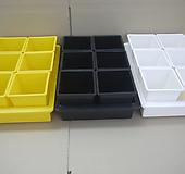 중형저면관수+사각플분2호세트 노랑-백색-검정|