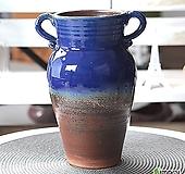 수제 화분 - TL - 대형 - 양쪽고리 원형(코발트)|Handmade Flower pot