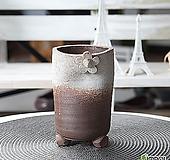 수제 화분 - TM - 중형 - 꽃잎 움푹이 원형(화이트)|Handmade Flower pot