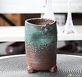 수제 화분 - TM - 중형 - 꽃잎 움푹이 원형(그린)|Handmade Flower pot