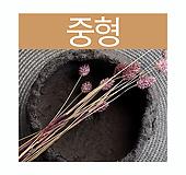 돌화분 화산석 화분(중형) - 최고급 수제 화분 작가도예-YM-중형-원형|Handmade Flower pot