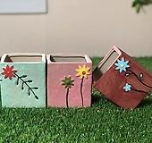 수제화분 들꽃사각(3color) 