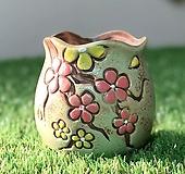수제화분 바람꽃2(연두A) Handmade Flower pot