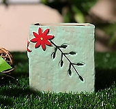 수제화분 들꽃사각(블루) Handmade Flower pot