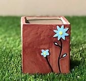 수제화분 들꽃사각(브라운) Handmade Flower pot