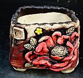 꽃사각다육수제화분32|Handmade Flower pot