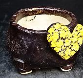하트다육수제화분35|Handmade Flower pot
