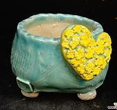 하트다육수제화분48|Handmade Flower pot