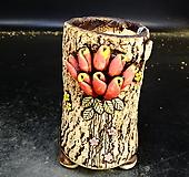대롱장미원형수제화분54|Handmade Flower pot