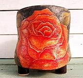 핑크 수제화분-장미꽃 흩날리는 날|Handmade Flower pot