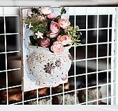 중형- 걸이형 화분(사각형-1) - 최고급 수제 화분  예쁜화분 다육화분 베란다화분 개업화분 특이한화분 선물화분 토어도예-YM-혼합형|Handmade Flower pot