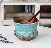 소형 -허리잘룩이(순수스카이블루) - 최고급 수제 화분  예쁜화분 다육화분 베란다화분 개업화분 특이한화분 선물화분 토분-TS-원형|Handmade Flower pot