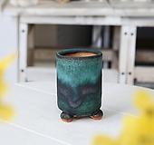 소형 클래식 원기둥(에메랄드) - 최고급 수제 화분  예쁜화분 다육화분 베란다화분 개업화분 특이한화분 선물화분 토어도예-TS-원형|Handmade Flower pot