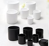 [인아트스튜디오] 모던 무광 화분 16종 - 블랙 & 화이트 원형화분 선물화분 개업화분 예쁜화분 깔끔한 화분|